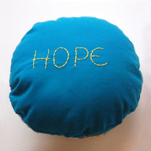 Flower of Hope Badge of Courage- Back